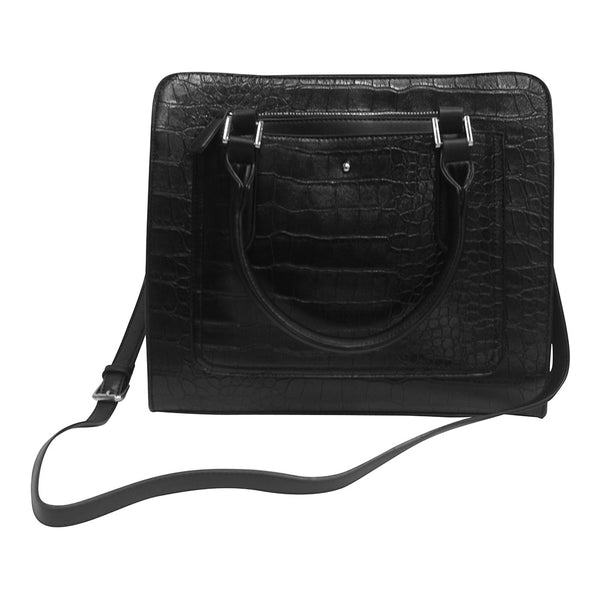 Harlequin Black Crocodile Tote Bag