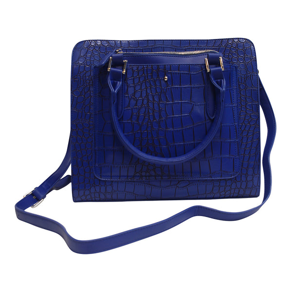 Harlequin Blue Crocodile Tote Bag