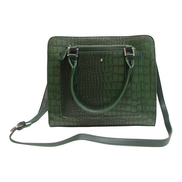 Harlequin Green Croc Coordinating Luggage Set