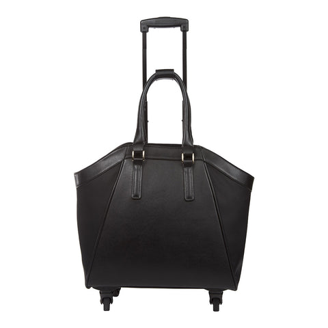 Black La Vie Rolling Carry-On Tote Bag