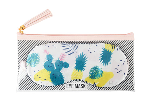 Cactus & Pineapple Satin Travel Eye Mask