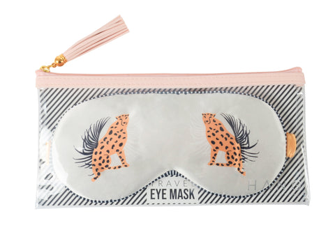 Cheetah Satin Travel Eye Mask