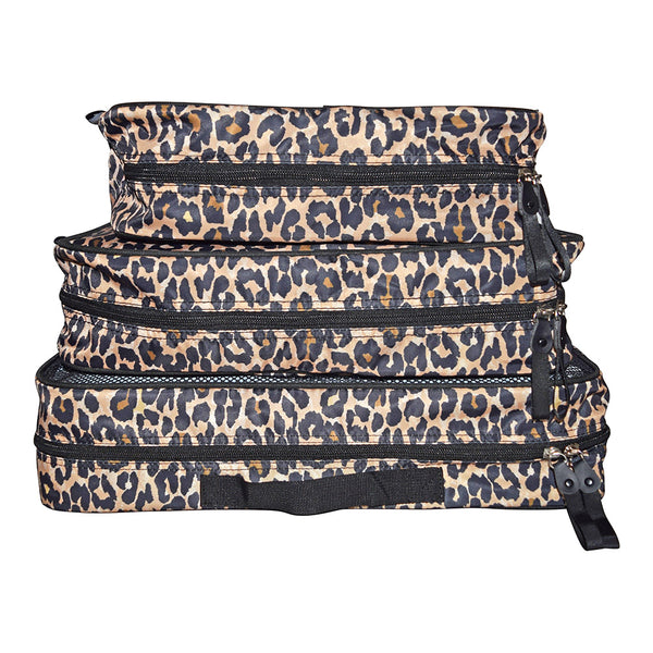 Leopard 3 Piece Packing Cube Set