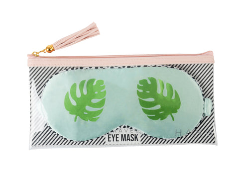 Palm Satin Travel Eye Mask