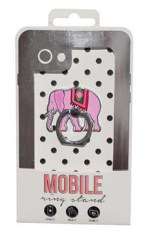 Elephant Enamel Mobile Phone Ring