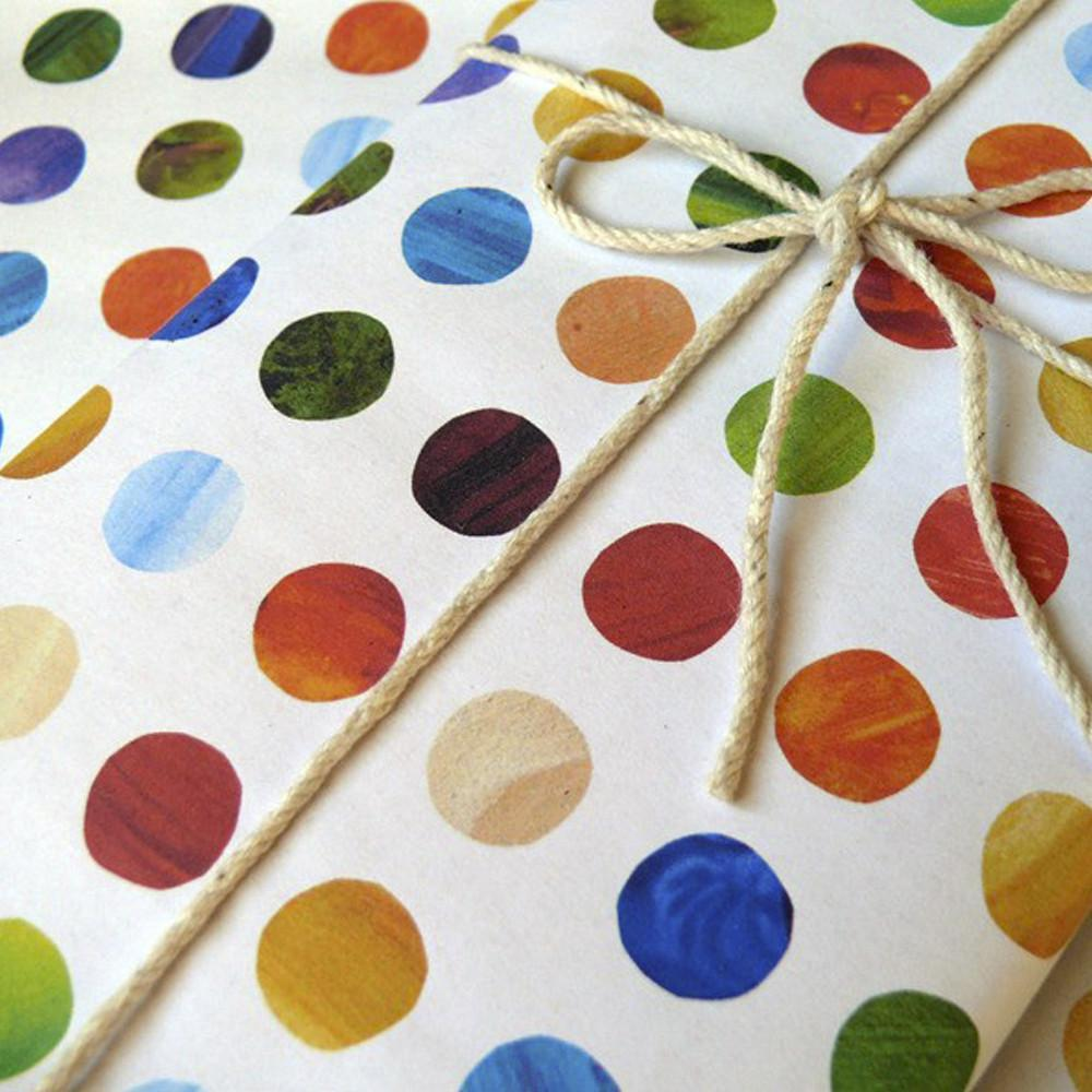 Dots Wrapping Paper - Naked Baby Eco Boutique