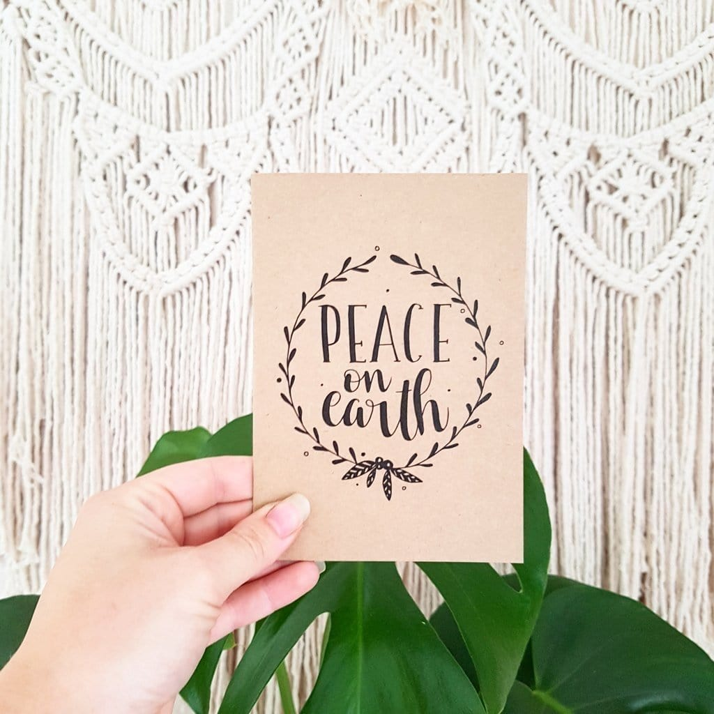 Holiday Card - Peace on Earth - Naked Baby Eco Boutique