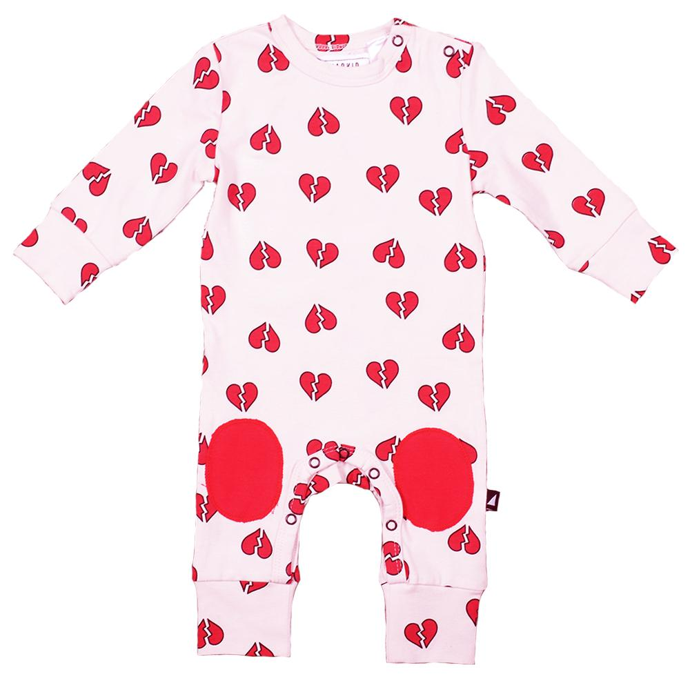 Anarkid Organic Cotton Heart Breaker Patch Romper - Naked Baby Eco Boutique