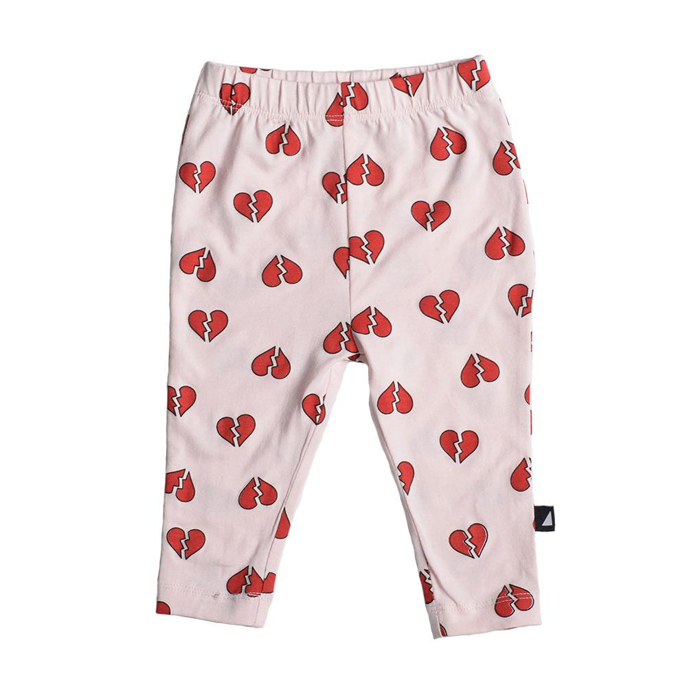 Anarkid Organic Cotton Pink Heartbreaker Leggings - Naked Baby Eco Boutique