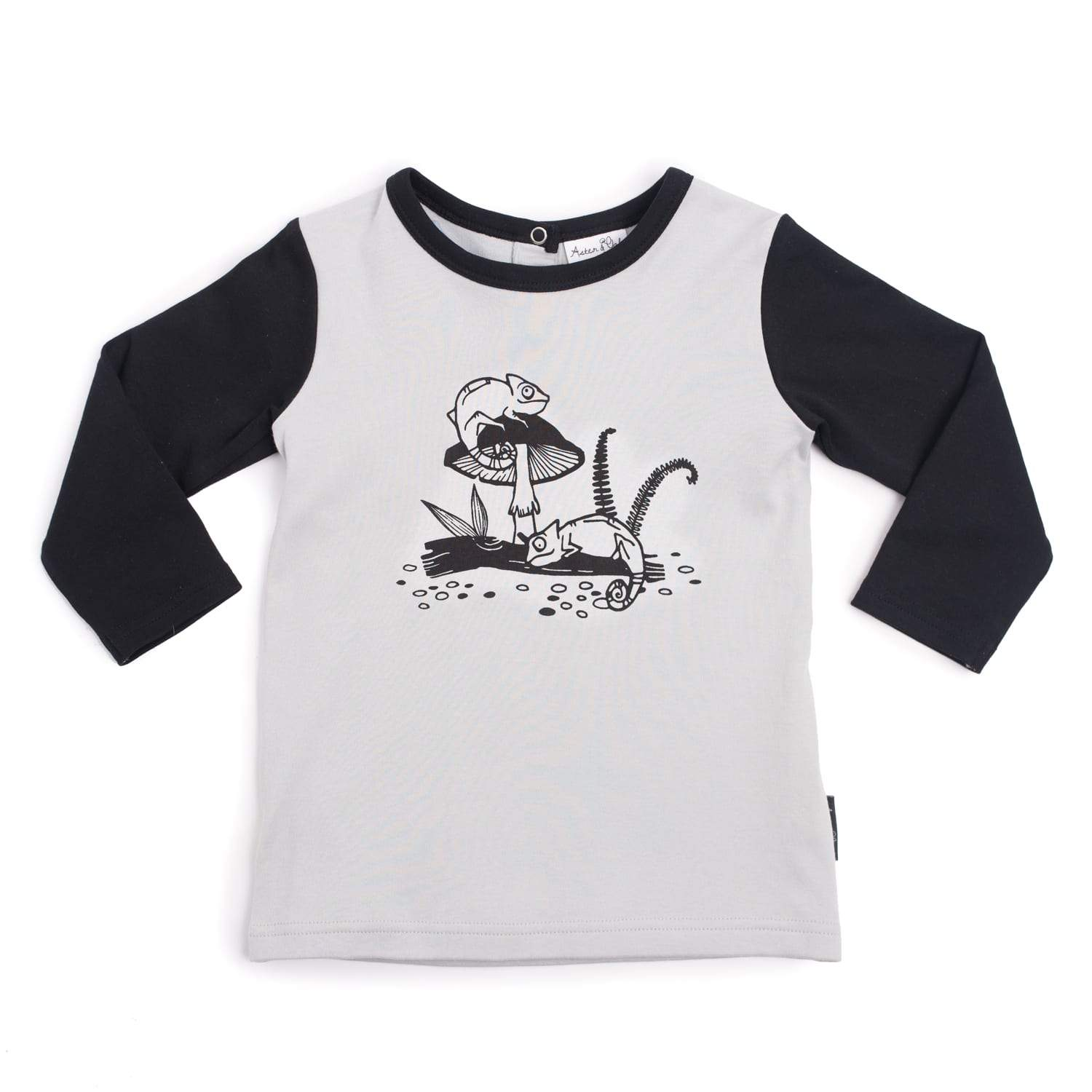 PRE-ORDER: Aster & Oak Organic Cotton Chameleon Raglan Tee - Naked Baby Eco Boutique