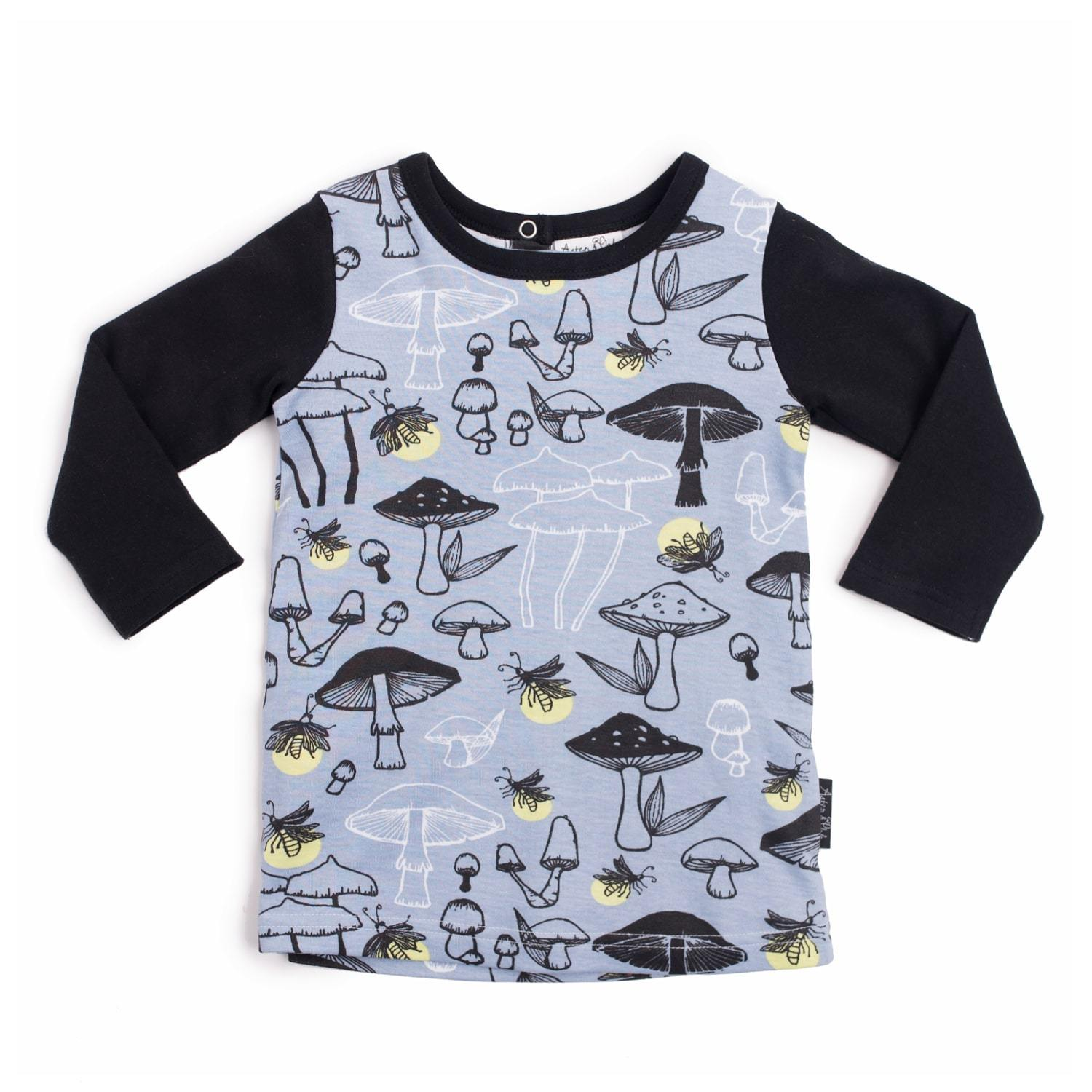 PRE-ORDER: Aster & Oak Organic Cotton Firefly Raglan Tee - Naked Baby Eco Boutique