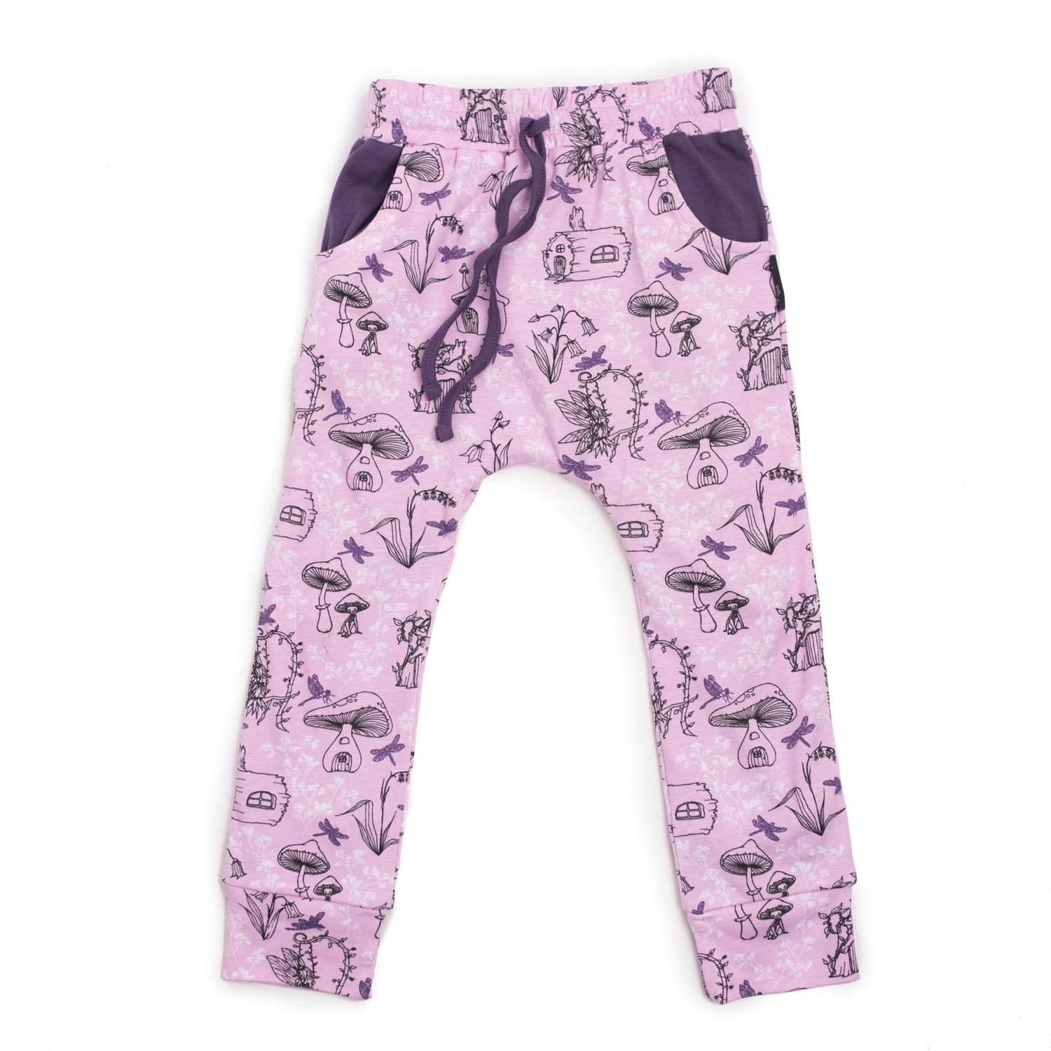 PRE-ORDER: Aster & Oak Organic Cotton Garden Fairy Harem Pants - Naked Baby Eco Boutique