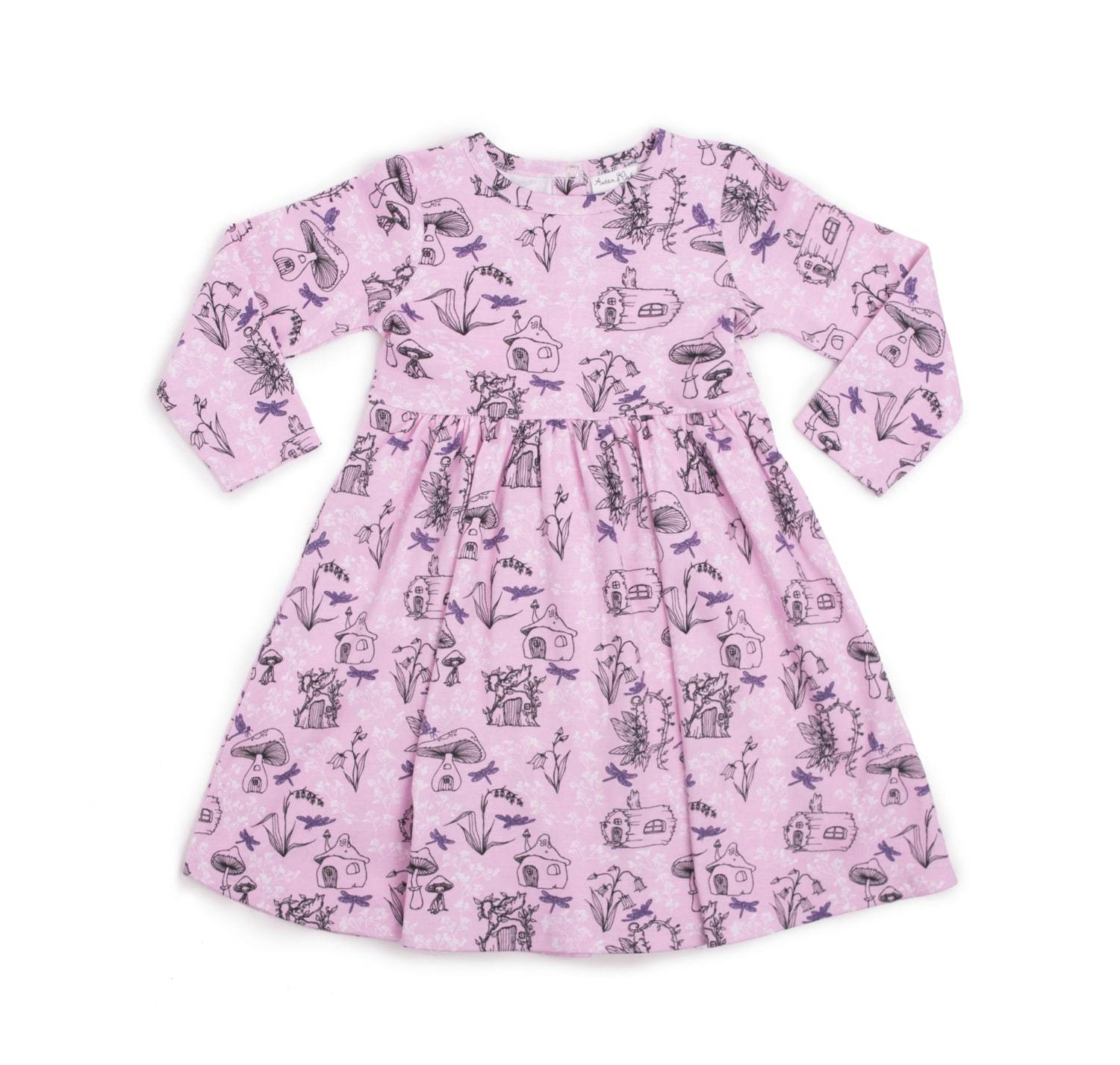 PRE-ORDER: Aster & Oak Organic Cotton Garden Fairy Long Sleeve Dress - Naked Baby Eco Boutique