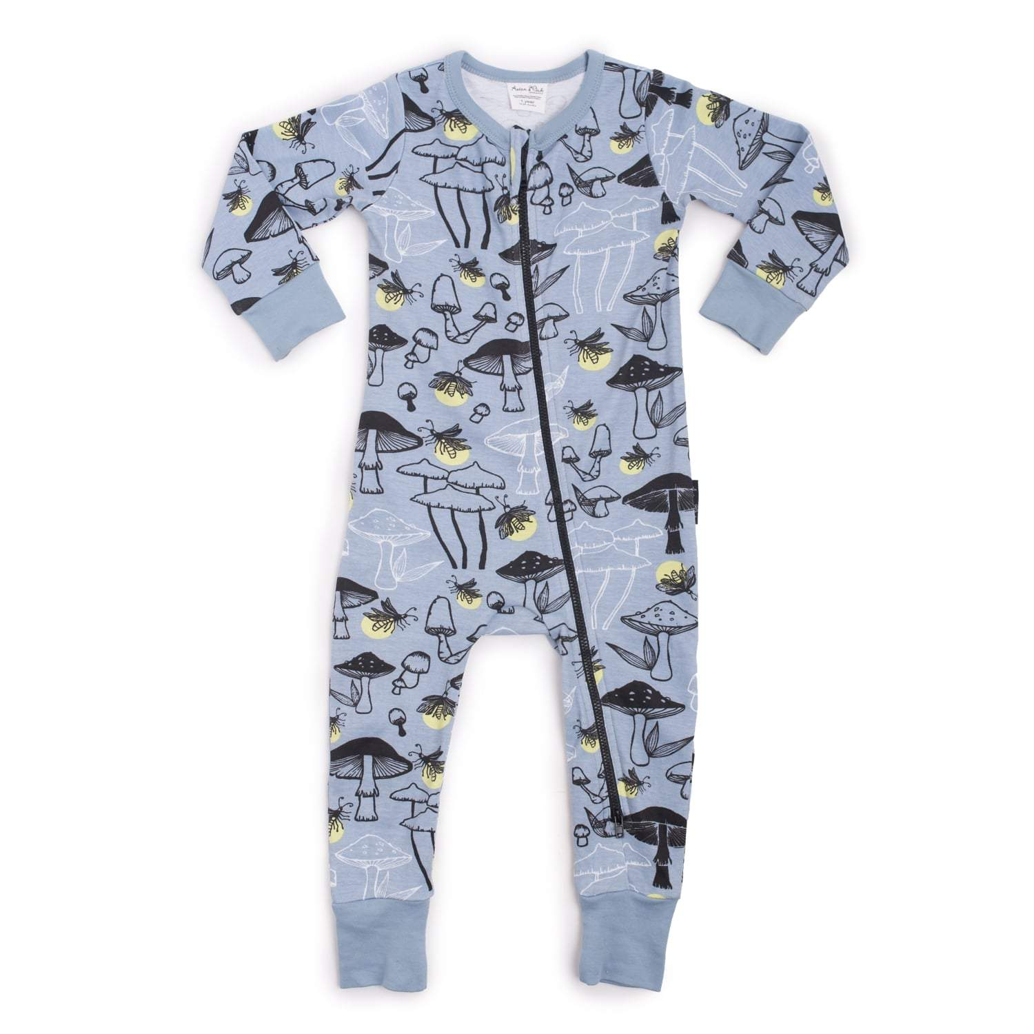 PRE-ORDER: Aster & Oak Organic Cotton Garden Fairy Zip Romper - Naked Baby Eco Boutique