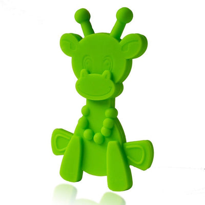 Lime Green Bambeado Little Bam Bam My First Teething Toy - Naked Baby Eco Boutique
