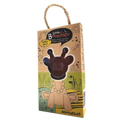 Bambeado Little Bamber Natural Amber & Natural Rubber Teething Toy - Naked Baby Eco Boutique