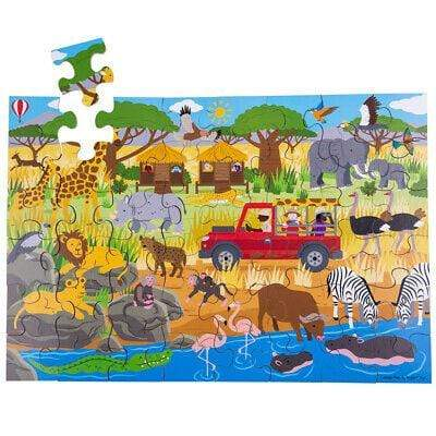 BigJigs 48-Piece Wooden Floor Puzzle (Multiple Variants) - Naked Baby Eco Boutique