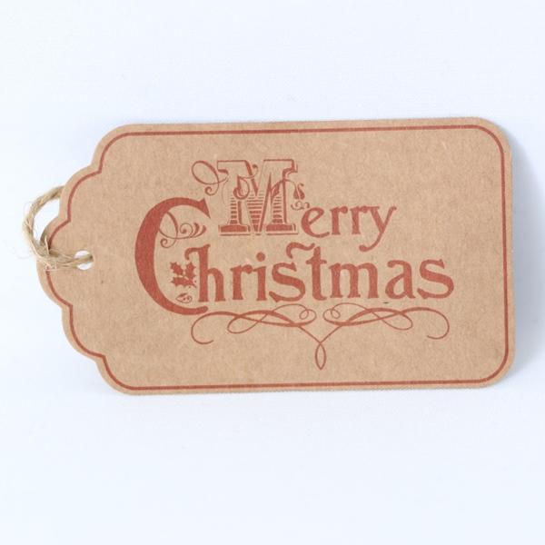 Christmas Gift Tag - Merry Christmas - Naked Baby Eco Boutique