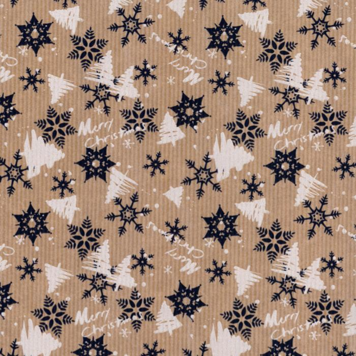 Christmas Wrap - Navy Snowflakes - Naked Baby Eco Boutique
