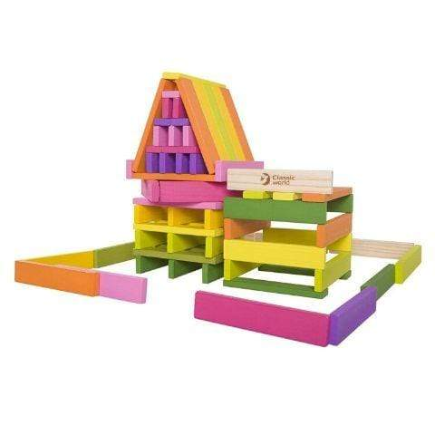 Classic World Wooden Building Planks - 100-Piece - Naked Baby Eco Boutique