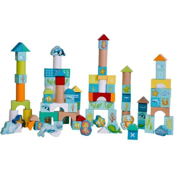 Classic World Ocean Block Set - Naked Baby Eco Boutique