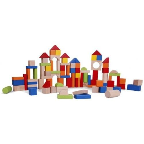 Classic World Wooden Block Set - 100-Piece - Naked Baby Eco Boutique