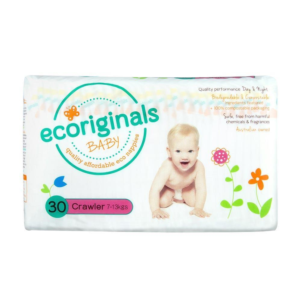 Ecoriginals Eco Disposable Nappies - Crawler (7-13 kg) - Multiple Variants - Naked Baby Eco Boutique