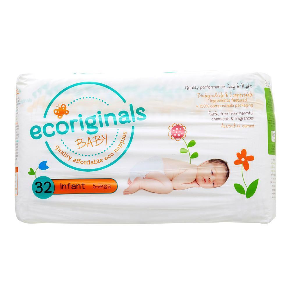 Ecoriginals Eco Disposable Nappies - Infant (5-9 kg) - Multiple Variants - Naked Baby Eco Boutique