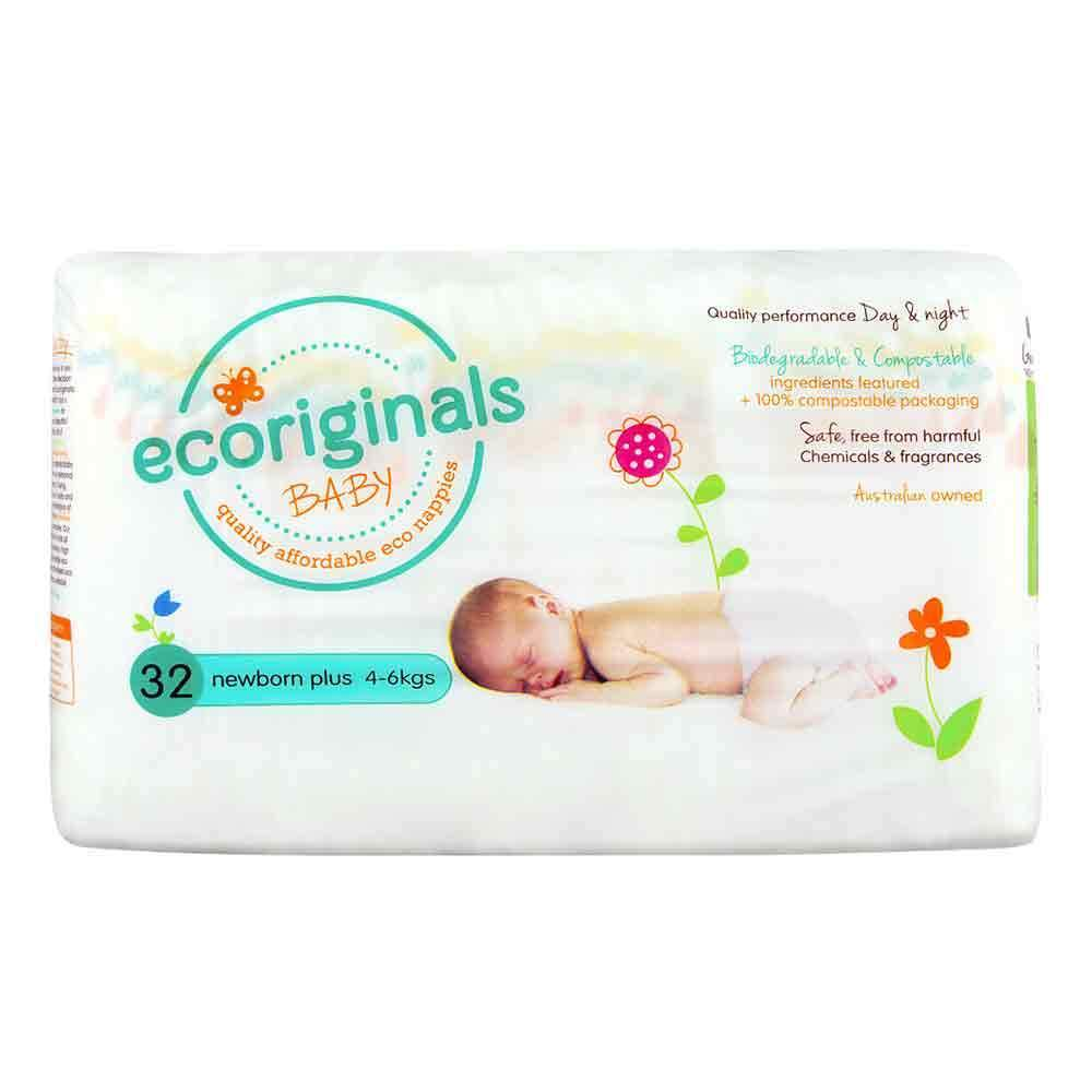 Ecoriginals Eco Disposable Nappies - Newborn Plus (4-6 kg) - Multiple Variants - Naked Baby Eco Boutique