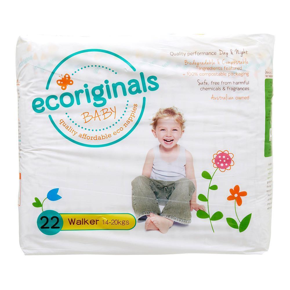 Ecoriginals Eco Disposable Nappies - Walker (14-20 kg) - Multiple Variants - Naked Baby Eco Boutique