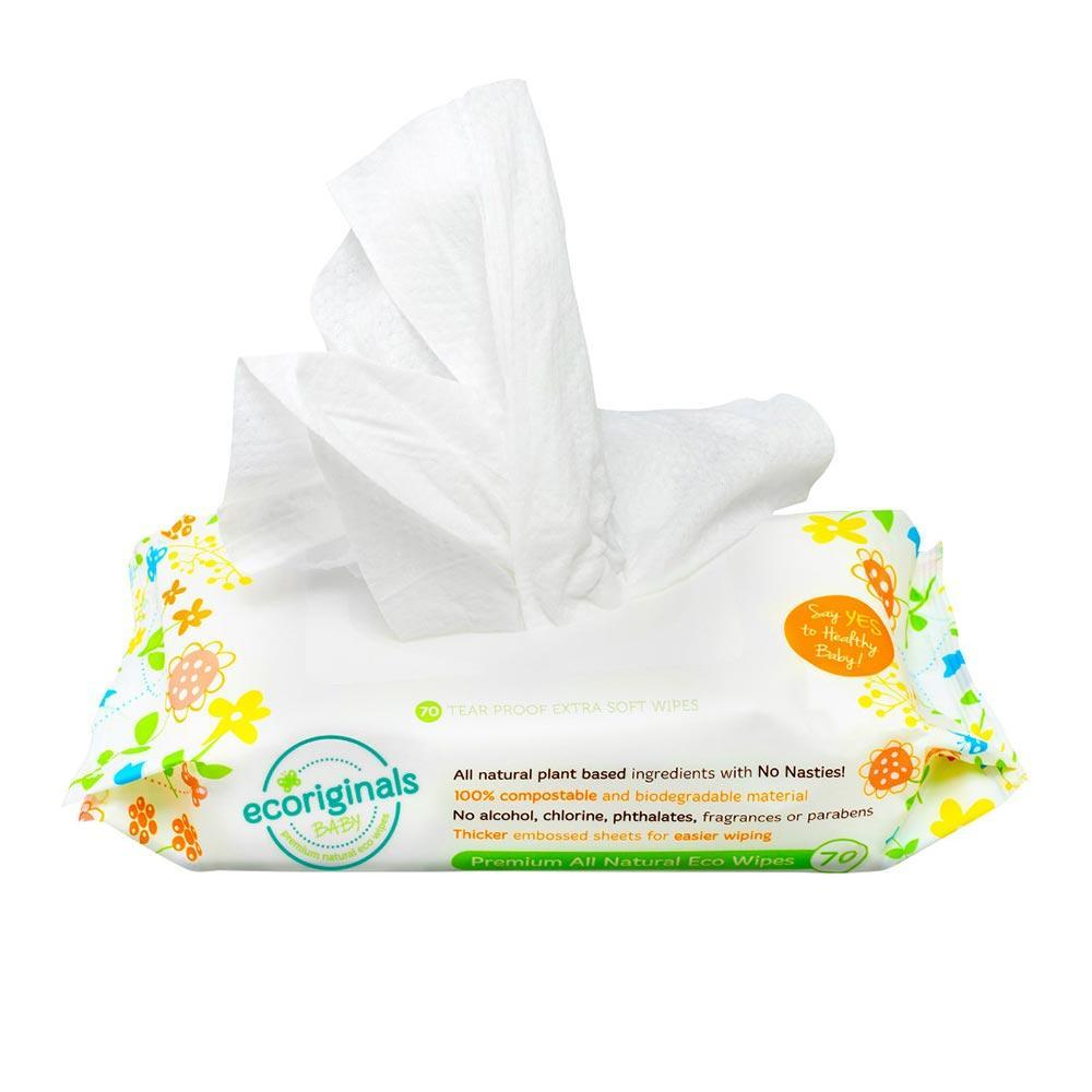 Ecoriginals Natural Baby Wipes (Multiple Variants) - Naked Baby Eco Boutique
