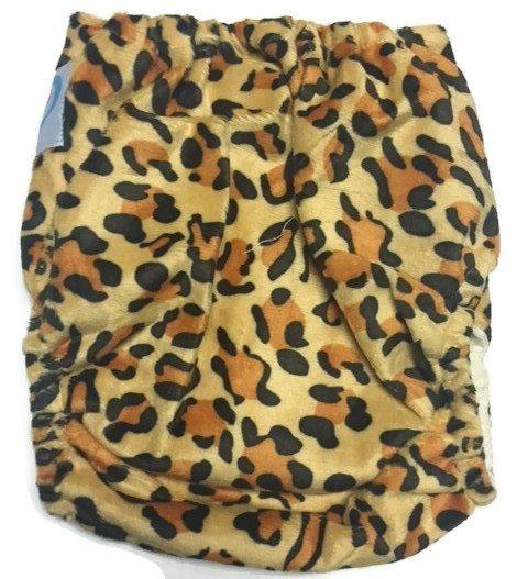Express the Best Cloth Re-usable Nappy Pack - Leopard - Naked Baby Eco Boutique