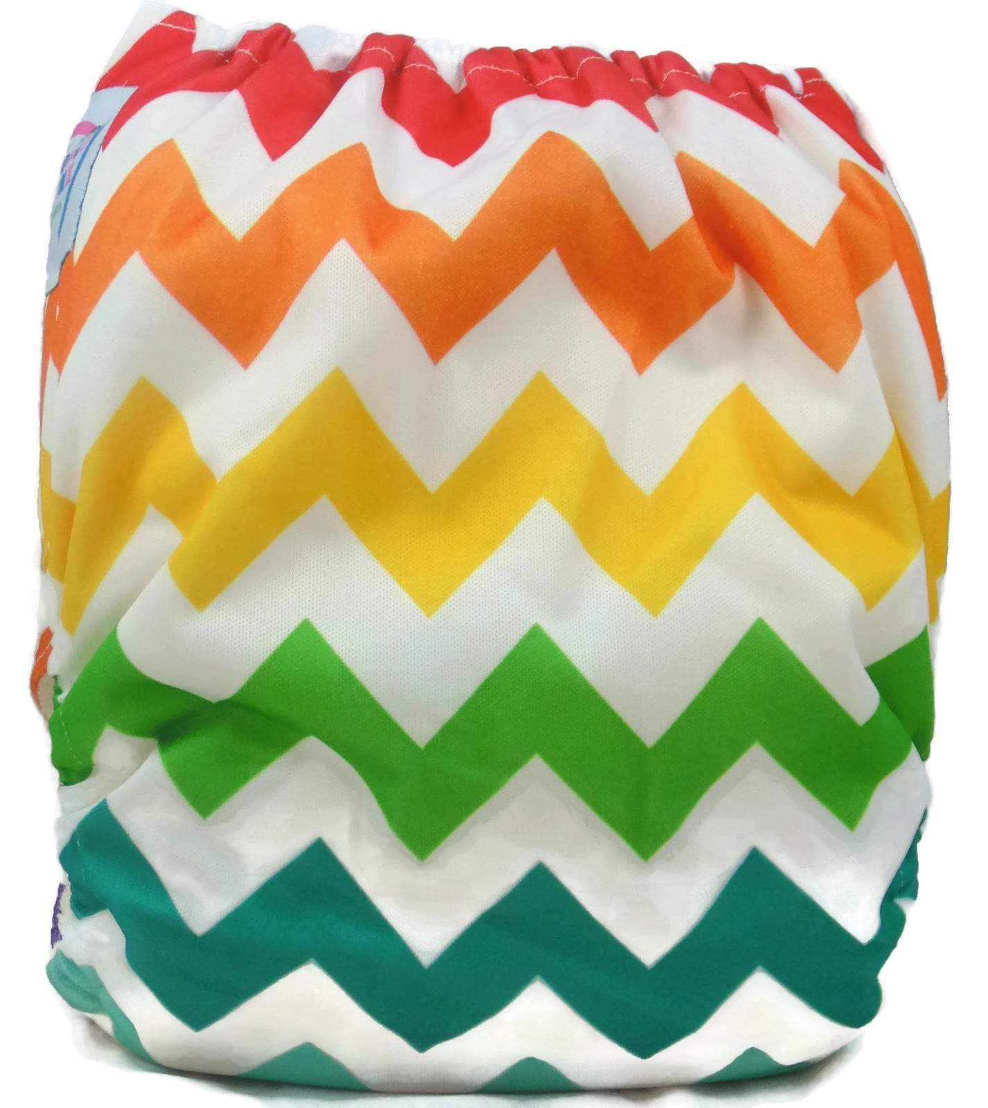 Express the Best Cloth Re-usable Nappy Pack - Rainbow Chevron - Naked Baby Eco Boutique