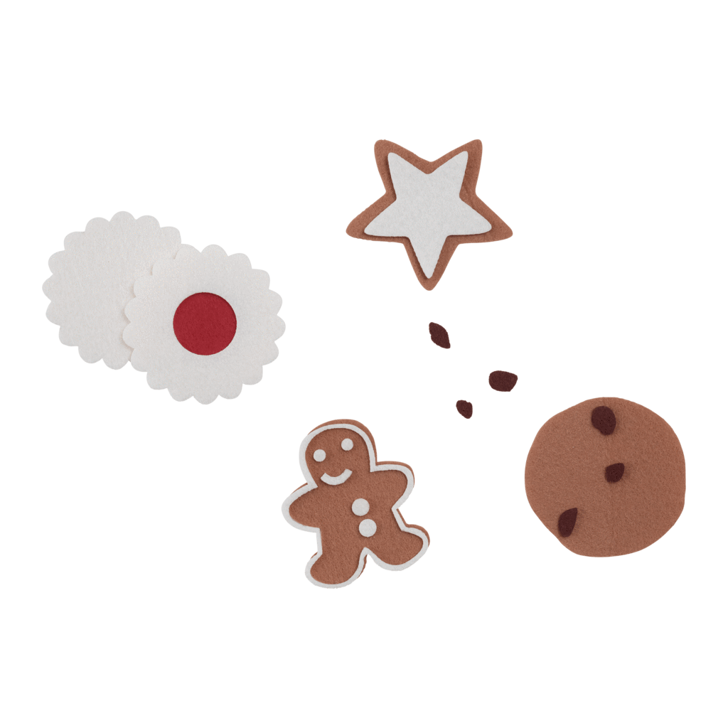 PRE-ORDER: Fabelab DIY Felt Christmas Cookies Craft Kit - Naked Baby Eco Boutique