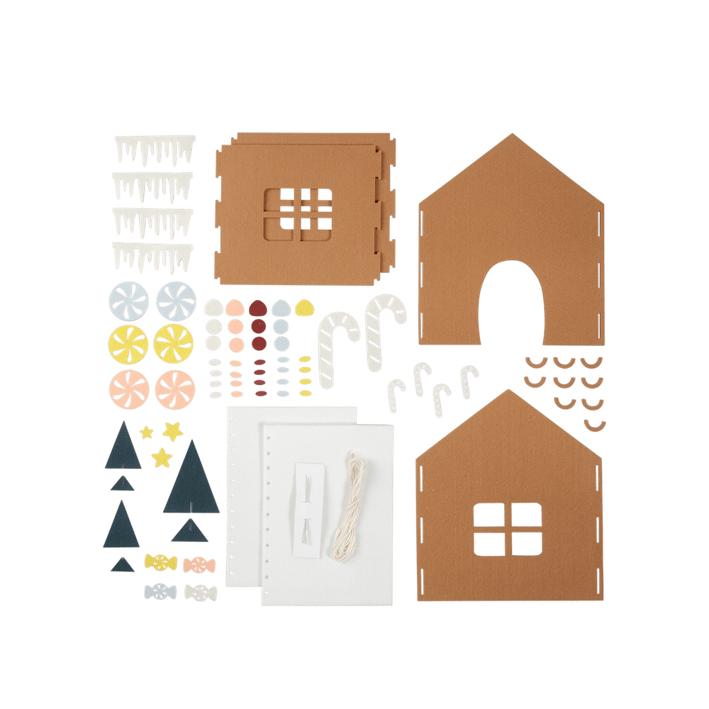 PRE-ORDER: Fabelab Gingerbread House Craft Kit - Naked Baby Eco Boutique