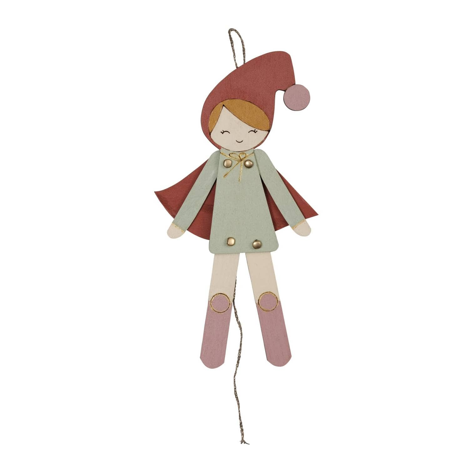 Girl Elf Fabelab Jumping Jacks Christmas Decoration (Multiple Variants) - Naked Baby Eco Boutique