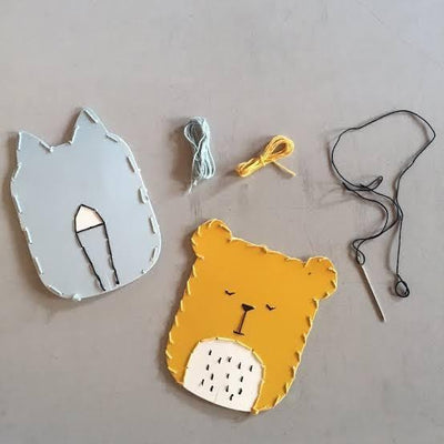 PRE-ORDER: Fabelab Mini Maker Animal Embroidery Kits (Multiple Variants) - Naked Baby Eco Boutique