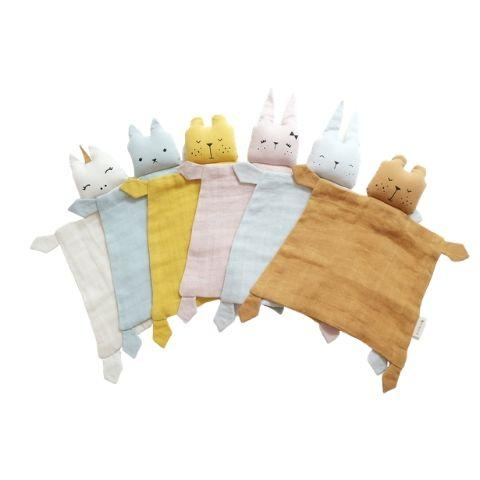 Fabelab Organic Cotton Cuddly Animal Comforter (Multiple Variants) - Naked Baby Eco Boutique