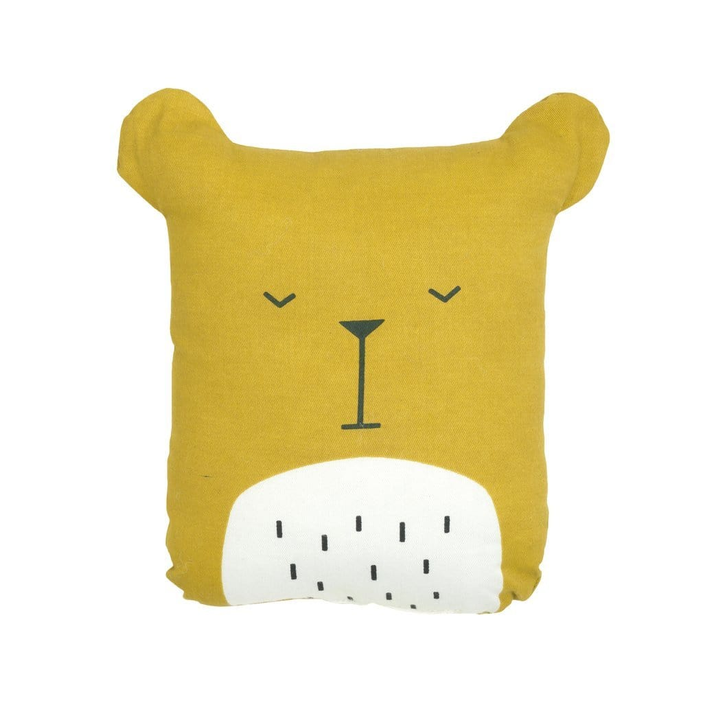 Bear (Honey) PRE-ORDER: Fabelab Organic Cotton Animal Cushions (Multiple Variants) - Naked Baby Eco Boutique