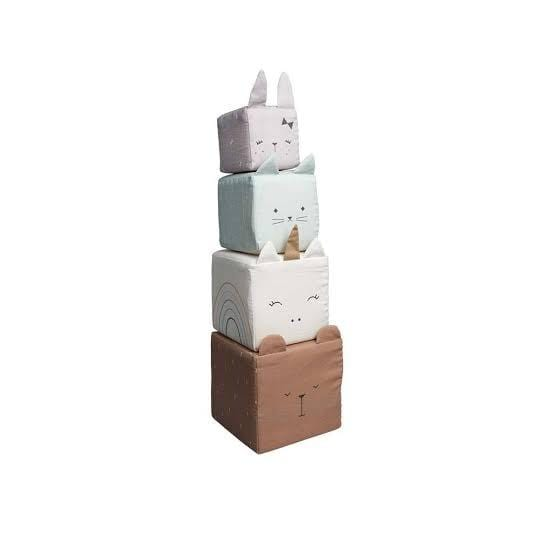 PRE-ORDER: Fabelab Organic Cotton Animal Soft Blocks - Naked Baby Eco Boutique