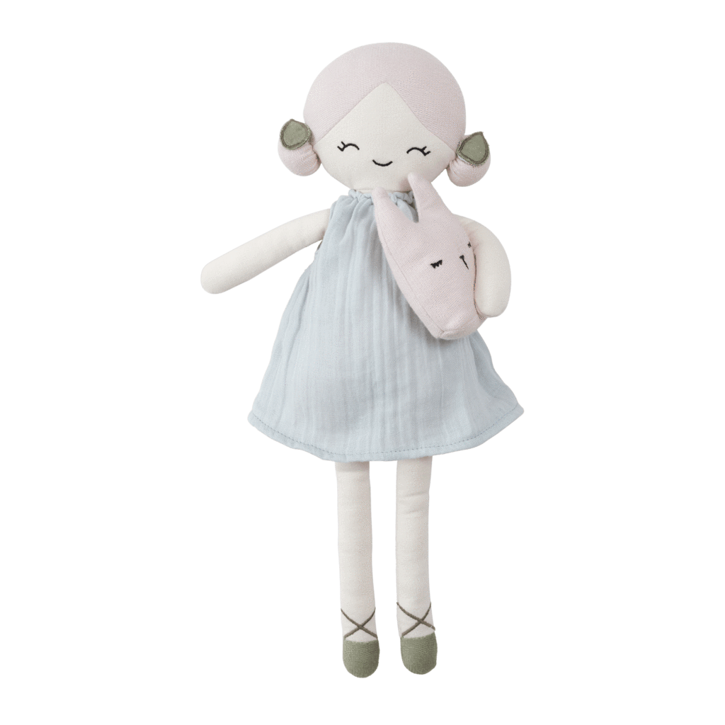 Apple (Foggy Blue) PRE-ORDER: Fabelab Organic Cotton Big Doll (Multiple Variants) - Naked Baby Eco Boutique