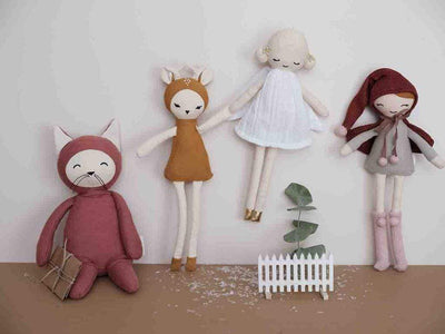 PRE-ORDER: Fabelab Organic Cotton Christmas Dolls (Multiple Variants) - Naked Baby Eco Boutique