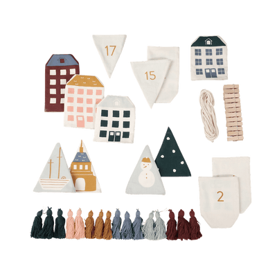 PRE-ORDER: Fabelab Organic Cotton Christmas Garland Advent Calendar - Naked Baby Eco Boutique