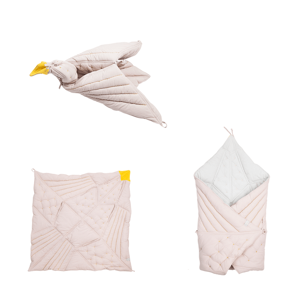 PRE-ORDER: Fabelab Organic Cotton Dreamy Bird Blanket (Multiple Variants) - Naked Baby Eco Boutique
