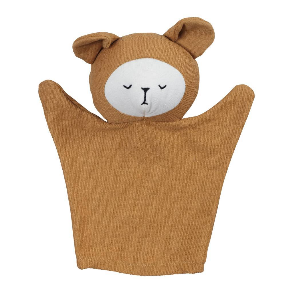 Bear (Ochre) Fabelab Organic Cotton Hand Puppets (Multiple Variants) - Naked Baby Eco Boutique