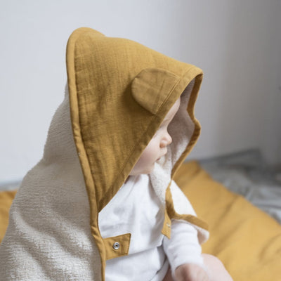 PREORDER: Fabelab Organic Cotton Hooded Baby Towel (Multiple Variants) - Naked Baby Eco Boutique