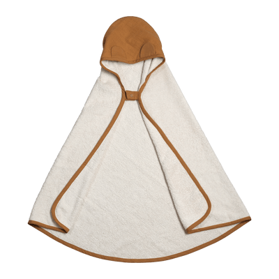 Ochre PREORDER: Fabelab Organic Cotton Hooded Baby Towel (Multiple Variants) - Naked Baby Eco Boutique