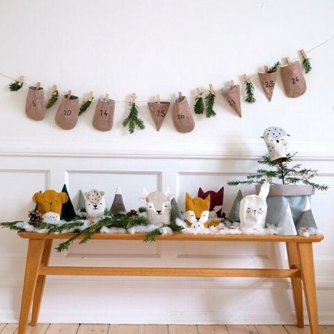 PRE-ORDER: Fabelab Organic Cotton In the Woods Advent Calendar - Naked Baby Eco Boutique