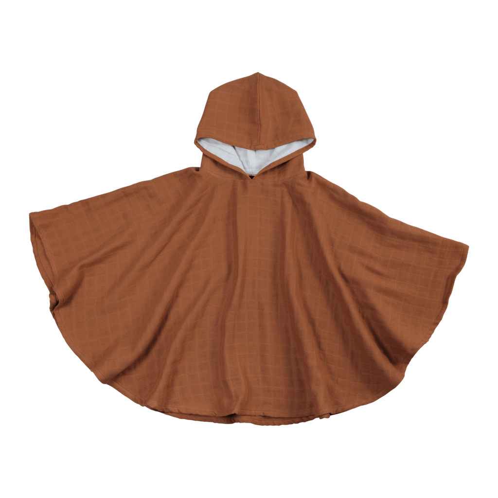 Cinnamon Fabelab Organic Cotton Kids Poncho (Multiple Variants) - Naked Baby Eco Boutique