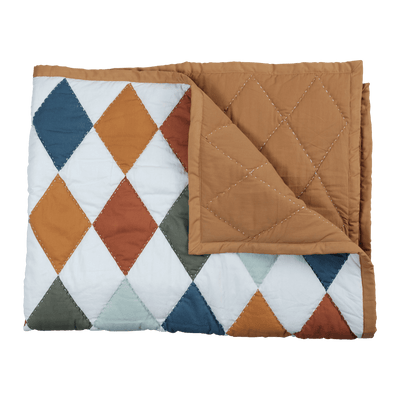 Fabelab Organic Cotton Patchwork Diamond Baby Blanket - Naked Baby Eco Boutique